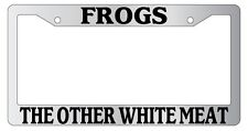 Chrome License Plate Frame Frogs, The Other White Meat Auto Accessory 773