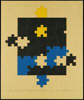 Fluxus. Multiple von Al HANSEN (1927-1995 NOR/USA), handsigniert