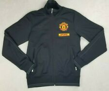 Nike Small Black Manchester United DHL Men's Track Turtle Neck Jacket Full Zip