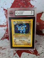 Machamp 8/102 - Pokemon 1st Edition Base Set Holo - EX - Graded 5