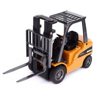 1:50 Alloy Diecast Engineering Vehicle Model Metal Forklift Truck Toy Crane Gift