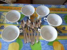 Lot de 6 TASSES à CAFE et 6 CUILLERES