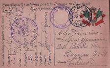 Posta Militare 34^ Divisione 268° PLOTONE 1918 CARABINIERE REALE PER CUNEO C4-21