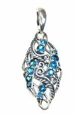 Carolyn Pollack Blue Topaz Sterling Silver Enhancer