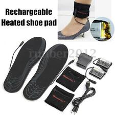 WARMSPACE Rechargeable Electric Battery Heated Insoles Foot Warmer Shoes Pad