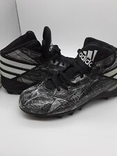 New ADIDAS Mens Boys Boots Ankle Lace Up ATHLETIC Wear Shoes  Black White 8 SaVe