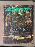1976 Michigan State Spartans vs Purdue Boilermakers Football Program VERY GOOD
