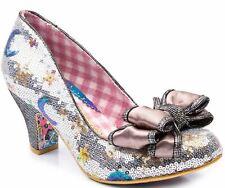 Irregular Choice Ban Joe Silver Womens Heels Court Shoes