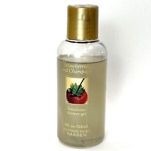 Victoria's Secret Garden Strawberries and Champagne Shower Gel 4 Oz,95% Full.