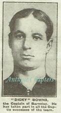 FC Barnsley Football Team History Dicky Downs 1920 Photo Article A563