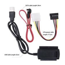 SATA/PATA/IDE to USB2.0 Converter Cable Adapter for 2.5/3.5'' Hard Drive Disk FT