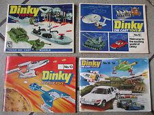 catalogue dinky toys 11 12 13 & 14 Star Trek Space 1999 Thunderbirds Catalogs