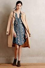 $148 nwt ANTHROPOLOGIE TINY sz PL EMBROIDERED SYDEN sleeveles shirtdress in gray