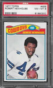 1977 Topps Football #459 Robert Newhouse - Dallas Cowboys PSA 8 NM-MT