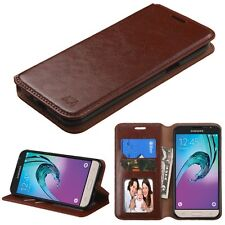 Brown MyJacket Wallet Phone Protector Cover Case for Samsung Galaxy J3/Amp Prime