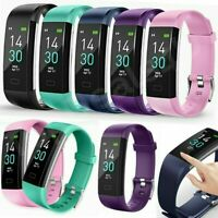 Sports Fitness Tracker Waterproof Heart Rate Smart Watch Monitor Fit bit