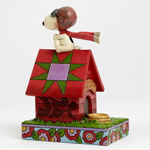 Enesco Jim Shore Figur 4042375 - Snoopy Flying Ace - The Peanuts Skulptur