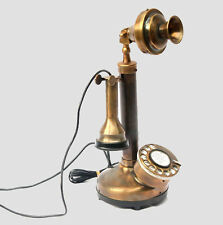 Antique Candlestick Phone Brass Replica Landline Home & Office Decor Ringing