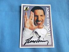 Star Trek Autograph & Costume Card Leonard Nimoy as Spock