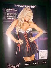 "BRAND NEW WOMENS/LADIES 3 PC ""POKER PRINCESS"" COSTUME SIZE LARGE 140LBS-160LBS"