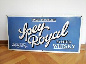 Altes Original Emailschild Spey Royal Scotch Whisky Spirituosen Bar, enamel sign