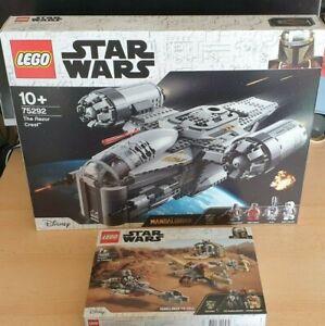 LEGO 75292/ 75299: Mandalorian Razor Crest/Trouble On Tatooine NEW/UNOPENED