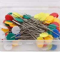 100pcs Mixed Colors DIY Sewing Accessories Patchwork Pins Flower Tool Needles 6L
