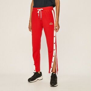Ellesse Womens Chelsea Jog Pant Red Solid Semi Fitted Active Wear SGC07324-RED