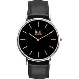 Mens Wristwatch ICE WATCH CITY CLASSIC IC.016227 Leather Black Rose Gold
