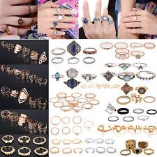 Retro Argento Oro Boho Moda Freccia Cristallo Midi Finger Knuckle Anelli Rings