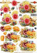 3D Motivbogen Etappenbogen Grußkarte Bastelbogen Blumen Blüten (303)