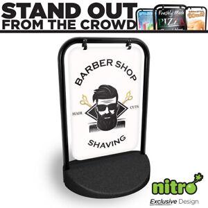Barber Shop & Shaving Swinging Pavement Sign Outdoor Shop Hairdressing