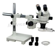 3.5-90X Boom Stand Zoom Stereo Microscope+8W Ring Light