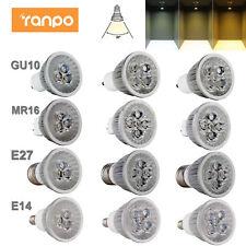 Регулируемая яркость светодиодный прожектор лампы GU10 MR16 E27 E14 9 Вт 12 Вт 15 Вт 110 В 220 В свет лампы