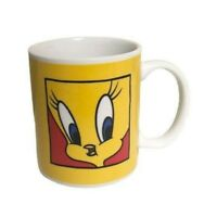 Vintage 1991 Warner Bros Yellow Tweety Bird Coffee Mug 10 Ounce