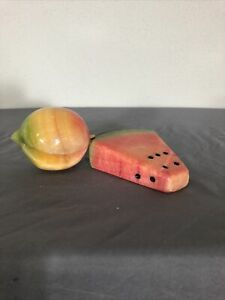 Vintage Alabaster Stone Fruit Marble Peach Watermelon