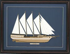 Wood Cutaway Model of Sv Legacy Sailing Ship - Made in the Usa