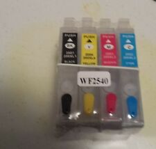 REFILLABLE 200XL FOR EPSON XP-200 XP-300 & WORKFORCE WF-2540 ***WITH FREE INK***