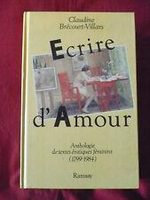 C. Brécourt-Villars, Écrire d'amour. Anthologie de textes érotiques féminins