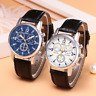 Mens Shshd Leather Faux Formal Casual Smart Analog Quartz Wrist Watch Watches