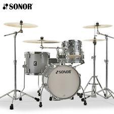NEW Sonor AQ2 Series 4 Piece SAFARI Drum Set Shell Pack Titanium Quartz