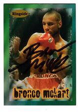 Boxer Bronco McKart 1996 Ringside SIGNED CARD AUTOGRAPHED