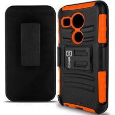 For LG Nexus 5X Belt Clip Case Neon Orange / Black Holster Hybrid Phone Cover