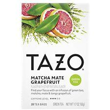 Tazo Tea Bags Matcha Mate Grapefruit Green 20 ct