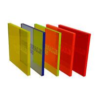 Lava Orange Edgelit Acrylic Panels 3mm Laser Perspex Cut to Size Sheet