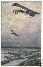 3044/ Künstler AK, Doppeldecker über Argonnenwald, 1917