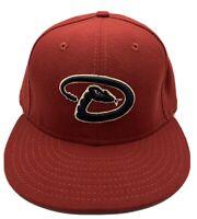 Arizona Diamondbacks New Era 59fifty Authentic Collection Red Brim 7 1/4 Hat Cap