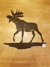 Moose Metal Wall Art Silhouette Country Rustic Lodge Outdoor Hunting