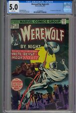 WEREWOLF BY NIGHT #33 CGC 5.0 2ND APP MOON KNIGHT WHITE PAGES