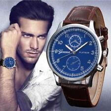 Geneva Mens Watch Retro Design Leather Analog Alloy Quartz WristWatch new BW  1